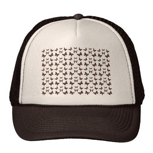 Leopard Print Butterflies Pattern Mesh Hat