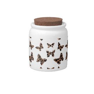 Leopard Print Butterflies Pattern Candy Jars