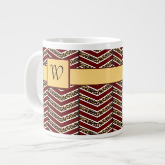 Leopard Print Chevron Specialty Mug 20 Oz Large Ceramic Coffee Mug
