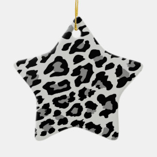 leopard print christmas ornament
