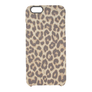 Leopard Print Clear iPhone 6/6S Case