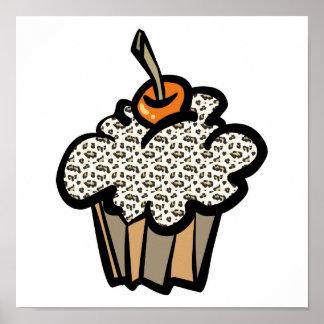 leopard print cupcake