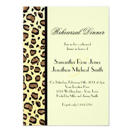Leopard Print Custom Rehearsal Dinner Card