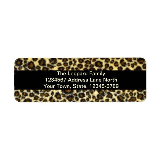 Leopard Print Customisable Return Address Labels