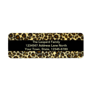Leopard Print Customizable Return Address Labels