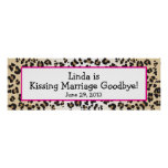 Leopard Print Divorce Party Banner
