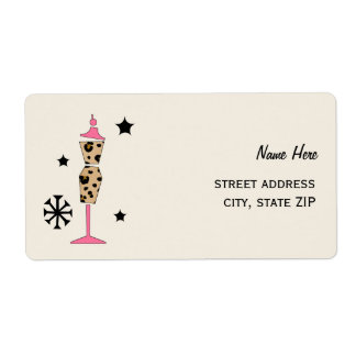 Leopard Print Dress Form Shipping Labels