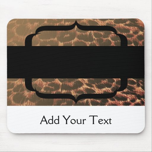 Leopard Print Elegance Mousepads