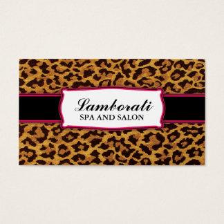 Leopard Print Elegant Modern Classy Professional Business Card