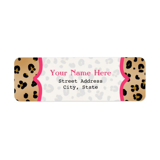Leopard Print  Fancy Return Address Label