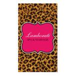 Leopard Print Fashion Designer Elegant Modern Pink