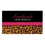 Leopard Print Fashion Designer Elegant Modern Pink Pack Of Standard Business Cards