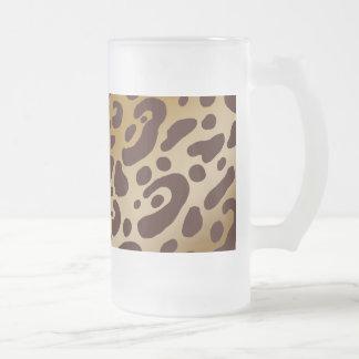 Leopard Print Frosted Mug