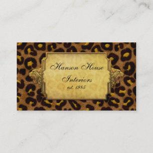 Leopard print business cards zazzle uk leopard print gold leopard heads business card reheart Image collections