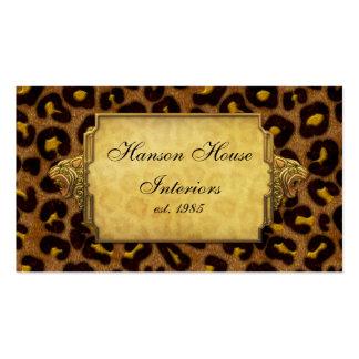 Leopard Print Gold Leopard Heads Pack Of Standard Business Cards