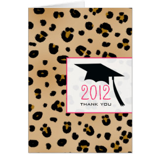Leopard Print Graduation Thank You Card