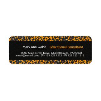 Leopard Print Grunge Return Address Label