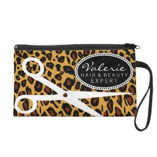 Leopard Print Hair Shears Wristlet