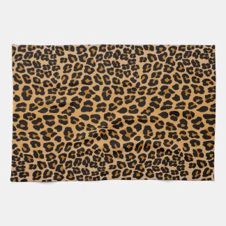 Leopard print hand towels