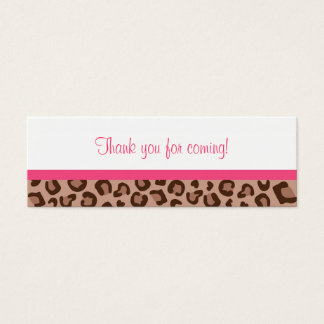 Leopard Print Jungle Baby Shower Favor Gift Tags Mini Business Card