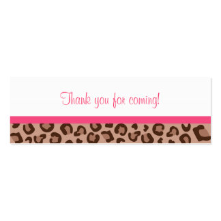 Leopard Print Jungle Baby Shower Favor Gift Tags Pack Of Skinny Business Cards