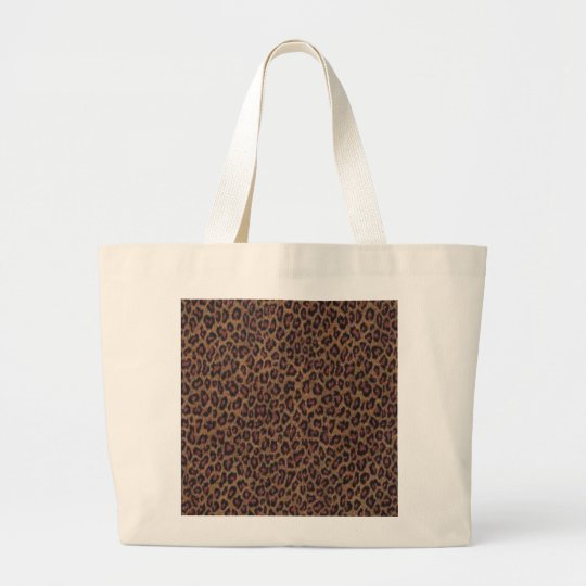 Leopard Print Large Tote Bag