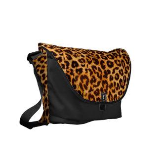 Leopard Print Messenger Bag