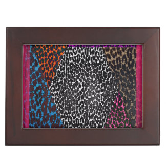 Leopard Print Mix Bling Grunge Memory Boxes