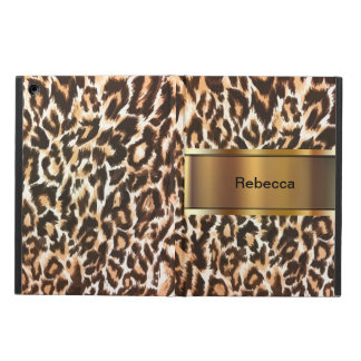 Leopard Print Monogram iPad Air Case