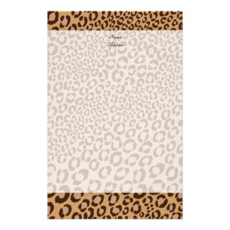 Leopard Print/Natural/Add background color!! Stationery