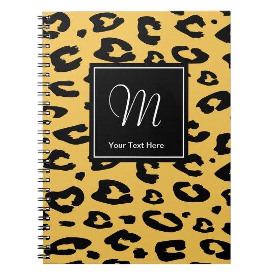 Leopard print notebook | Monogram animal print