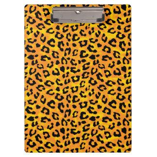 Leopard Print  Orange Yellow Vector Print Clipboard