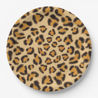 Leopard Print Paper Plate