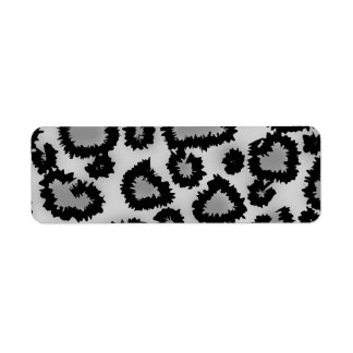 Leopard Print Pattern, Black and Gray.