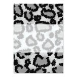 Leopard Print Pattern, Black and Grey.