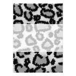 Leopard Print Pattern, Black and Grey. Announcements