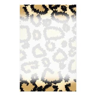 Leopard Print Pattern, Brown and Black. 14 Cm X 21.5 Cm Flyer