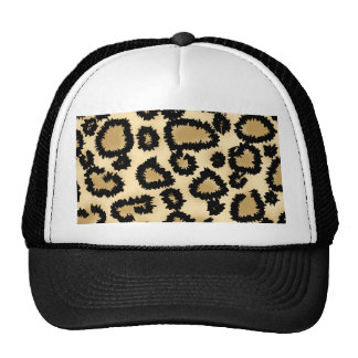 Leopard Print Pattern, Brown and Black. Cap