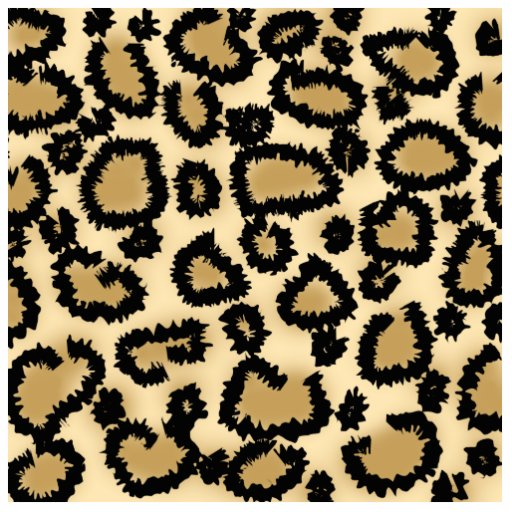 Leopard Print Pattern, Brown and Black. Cut Out