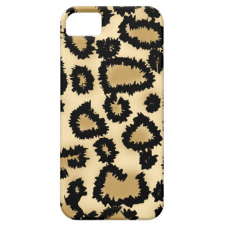 Leopard Print Pattern, Brown and Black. iPhone 5 Case