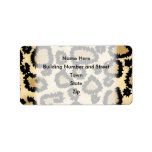 Leopard Print Pattern, Brown and Black. Address Label