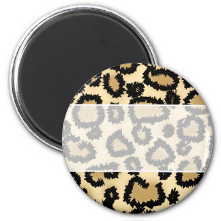 Leopard Print Pattern, Brown and Black. Magnet