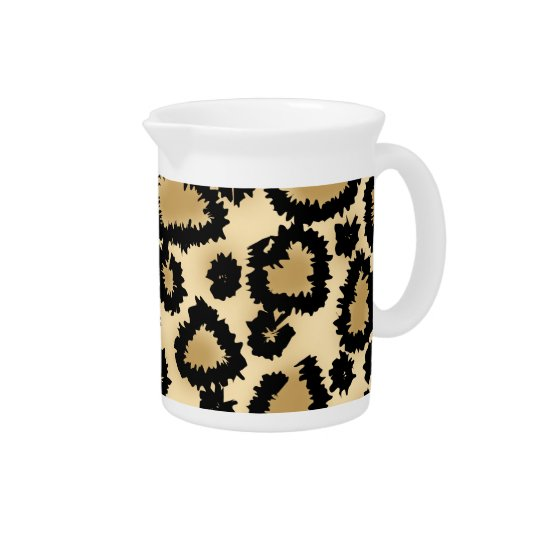Leopard Print Pattern, Brown and Black. Pitcher