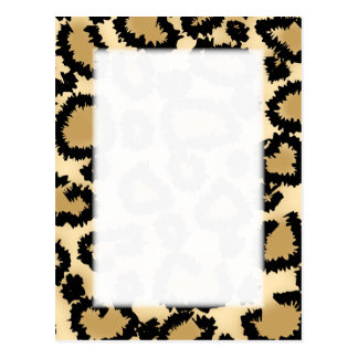 Leopard Print Pattern Brown and Black Post Card