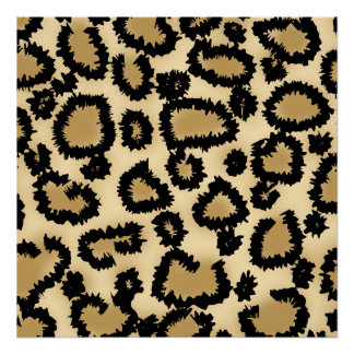Leopard Print Pattern Brown and Black