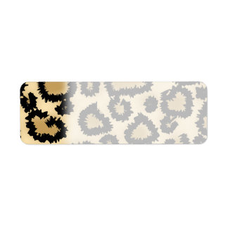 Leopard Print Pattern, Brown and Black. Return Address Label