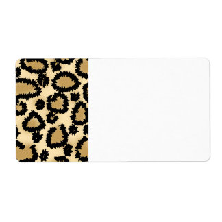 Leopard Print Pattern, Brown and Black. Shipping Label