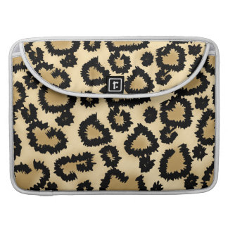 Leopard Print Pattern, Brown and Black. Sleeve For MacBook Pro