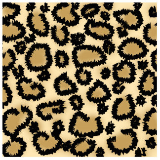 Leopard Print Pattern, Brown and Black. Standing Photo Sculpture