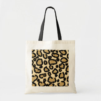 Leopard Print Pattern, Brown and Black. Tote Bag